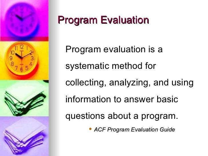 Program Evaluation In The NonProfit Sector