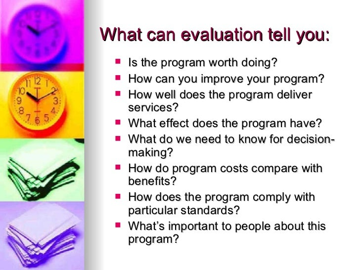 Program Evaluation In the NonProfit Sector – Program Evaluation