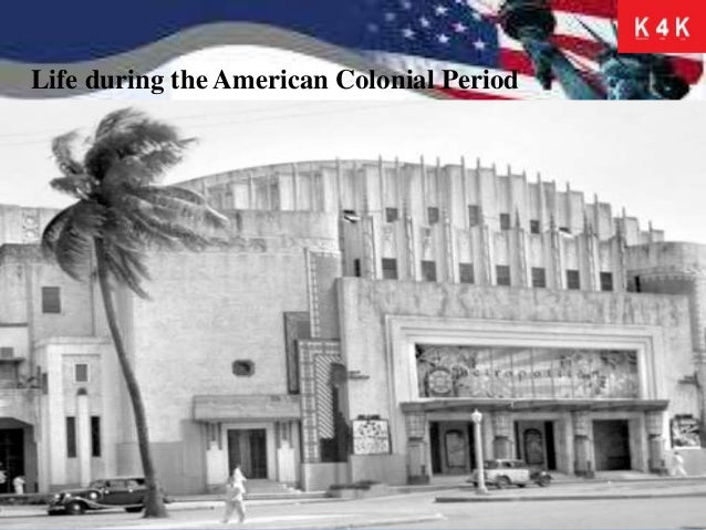 The american colonization in the philippines.