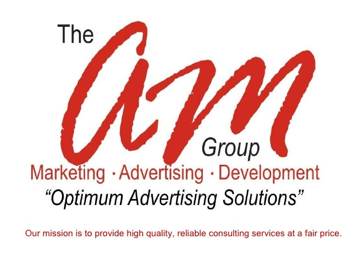 Our mission is to provide high quality, reliable consulting services at a fair price.