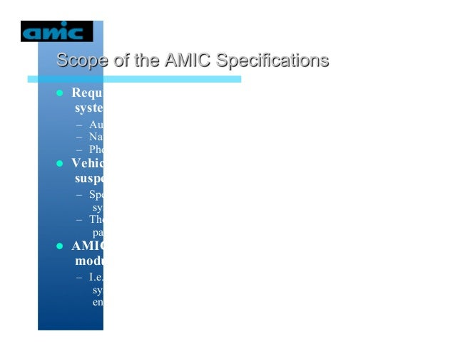 The AMIC Host and Vehicle Services Api's - E Nelson Slide 2