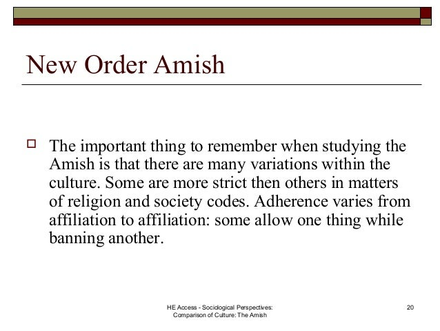 Chasidim and Old Order Amish A Comparison Essay