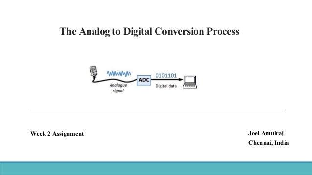 The Analog to Digital Conversion Process Joel Amulraj Chennai, India Week 2 Assignment