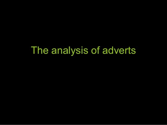 The analysis of adverts