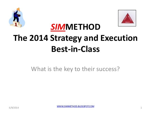 SIMMETHOD The 2014 Strategy and Execution Best-in-Class What is the key to their success? 6/9/2014 1 WWW.SIMMETHOD.BLOGSPO...