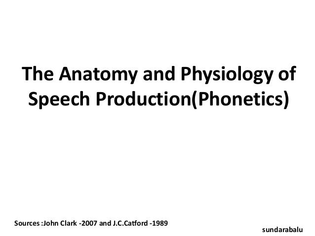 The Anatomy and Physiology of Speech Production(Phonetics)