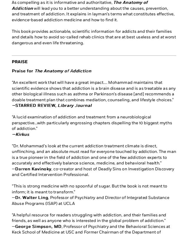 The Anatomy of Addiction by Akikur Mohammad, MD