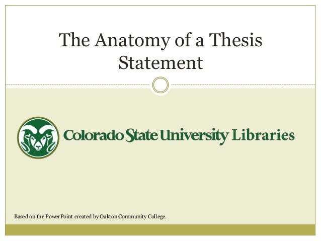 project thesis statements