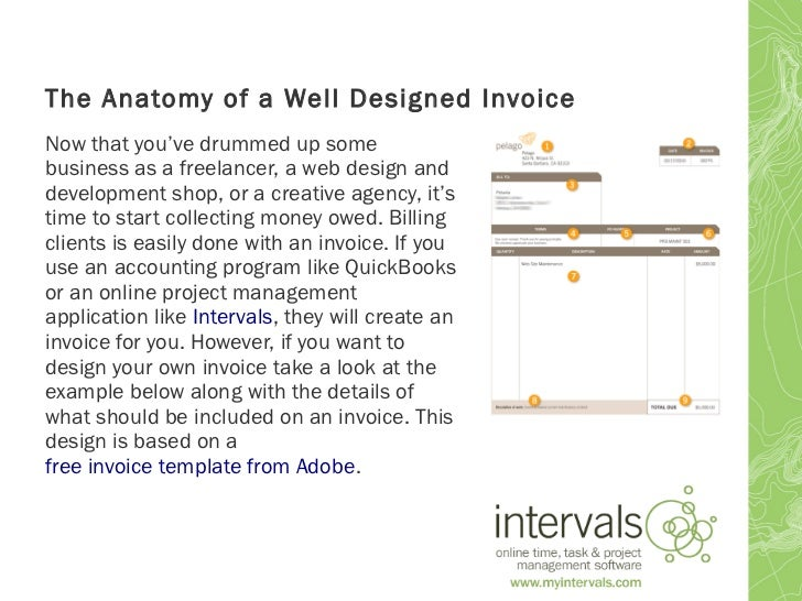 the anatomy of a well designed invoice, Invoice templates