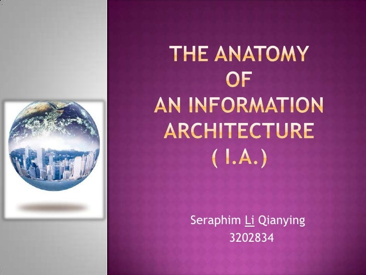The anatomy ofan informationarchitecture( I.A.)<br />Seraphim LiQianying<br />  3202834<br />
