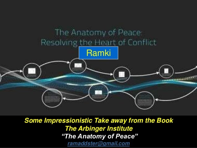 """Some Impressionistic Take away from the Book The Arbinger Institute """"The Anatomy of Peace"""" ramaddster@gmail.com Ramki"""