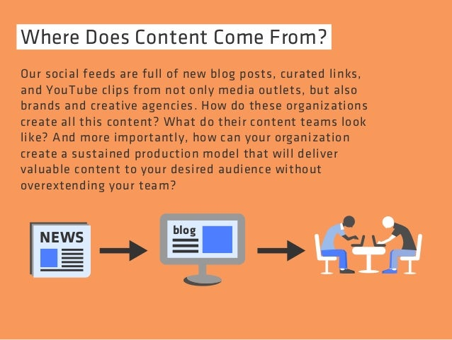 Where Does Content Come From?  Our social feeds are full of new blog posts, curated links,  and YouTube clips from not onl...