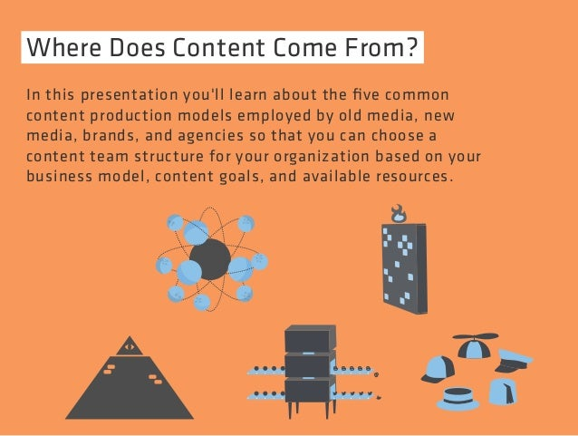 Where Does Content Come From?  In this presentation you'll learn about the five common  content production models employed...