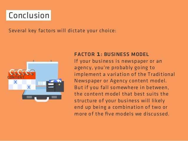 Conclusion  Several key factors will dictate your choice:  FACTOR 1: BUSINESS MODEL  If your business is newspaper or an  ...
