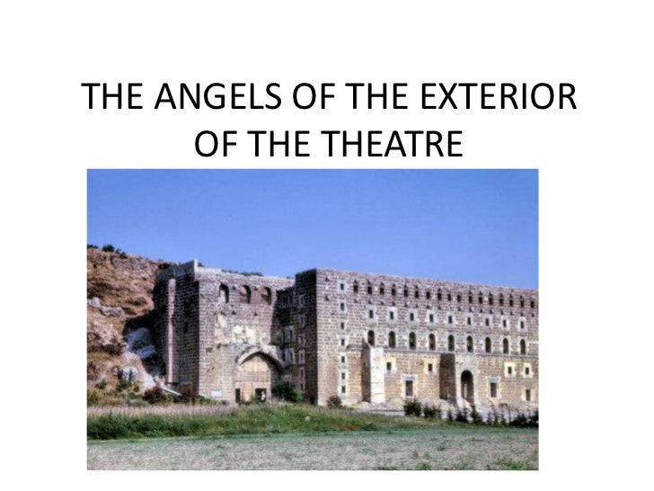 THE ANGELS OF THE EXTERIOR OF THE THEATRE<br />