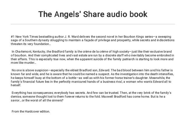 The Angels Share Audio Book