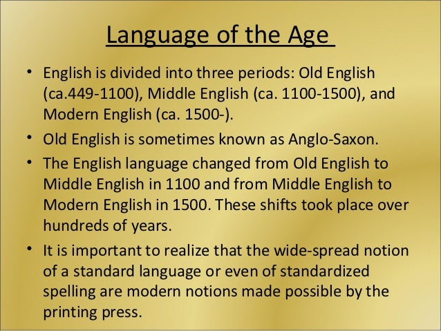 the middle english period 1100 1500 The later middle english and early renaissance periods one of the most important factors in the nature and development of english literature between about 1350 and 1550 was the peculiar linguistic situation in england at the beginning of the period.