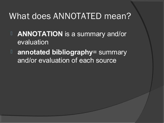 Annotated bibliography purdue