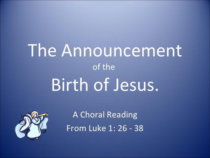 The announcement lk 1