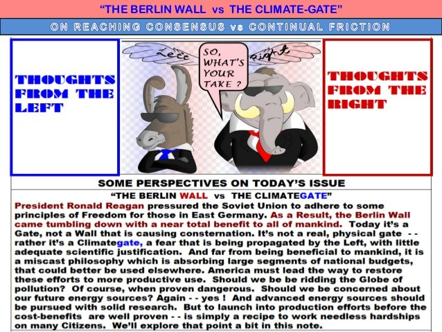 """""""THE BERLIN WALL vs THE CLIMATE-GATE"""""""