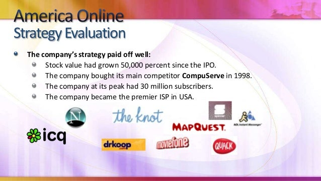 AOL had been operating in a High Technology market, still in the growthphase.Internet Technology had been young, with very...