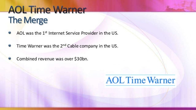aol time warner essay Essay on aol time warner 1577 words | 7 pages an organization such as aol into the light for time warner america on line realizes the value of a company as established as time warner aol is a new school organization steve case and bob pittman also had the foresight to see the impact of a.