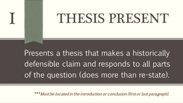 """ap european history dbq thesis statement The dbq, or document-based-question, is a somewhat unusually-formatted timed essay on the ap history exams: ap us history, ap european history, and ap world history note, however, that most of the correct answers here would be """"good"""" thesis statements as opposed to """"super"""" thesis statements."""