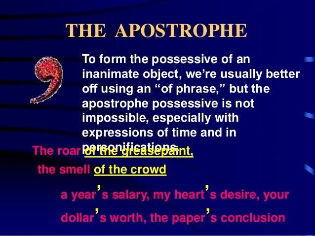 The apostrophe