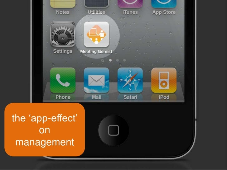 the 'app-effect' on management<br />