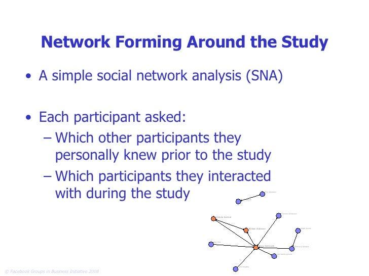 Network Forming Around the Study <ul><li>A simple social network analysis (SNA) </li></ul><ul><li>Each participant asked: ...