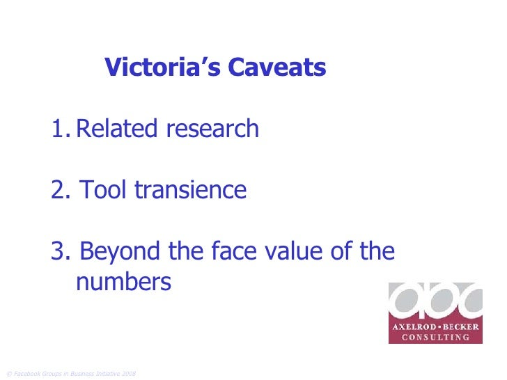 <ul><li>Related research </li></ul><ul><li>2. Tool transience </li></ul><ul><li>3. Beyond the face value of the numbers </...
