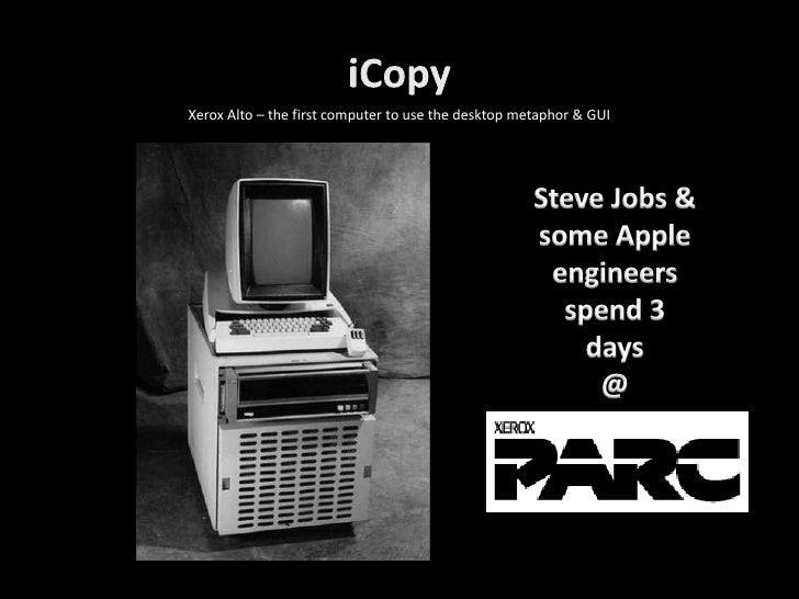 Xerox Alto – the first computer to use the desktop metaphor & GUI