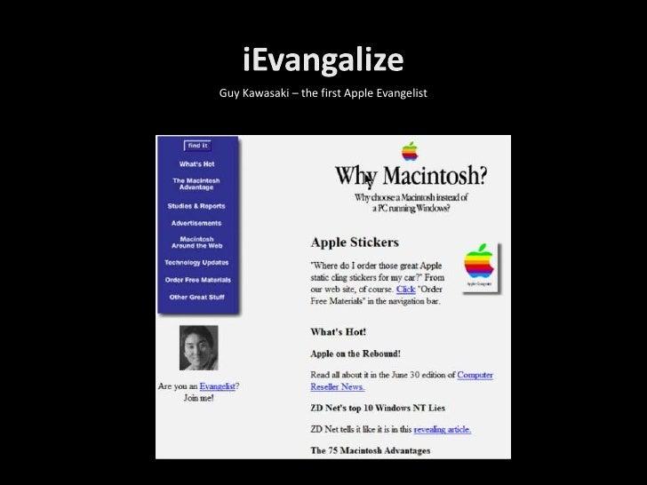 Guy Kawasaki – the first Apple Evangelist