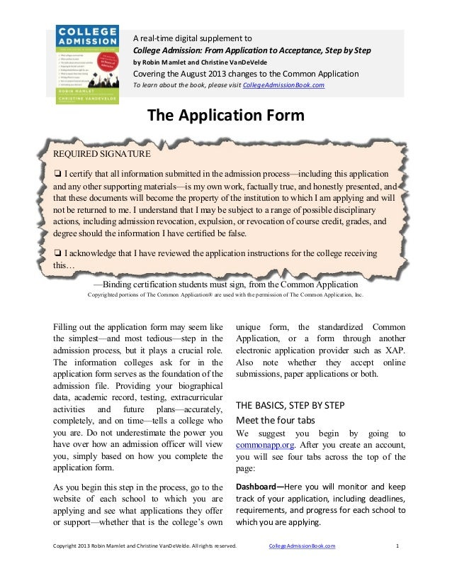 The Applicationform