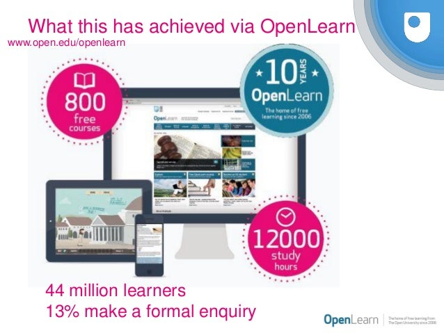 The application of open digital badging at the OU UK and its future in he Slide 3