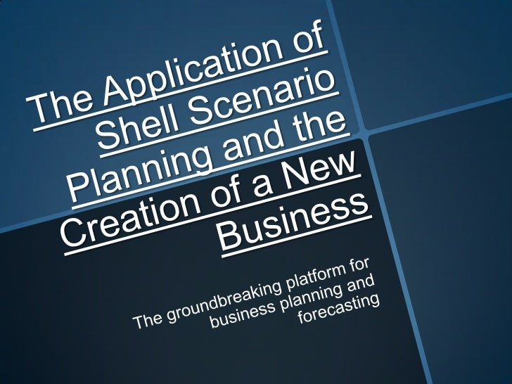 The Shell Scenario• Was the first model of business performance,  planning and forecasting in written form• Was productive...