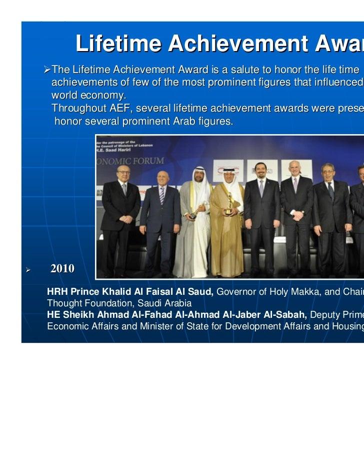 The Arab Economic Forum - History Highlights
