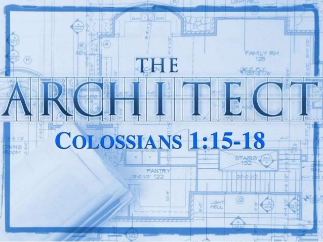 COLOSSIANS 1:15-18