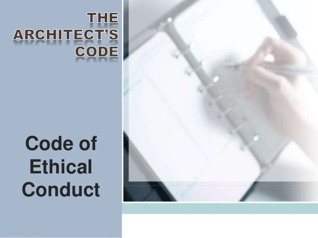 The architects code