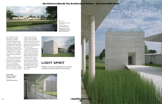[Architecture.Ebook] The Architectural Review - Sellection(2002-2005) cippall@yahoo.com - 64 -