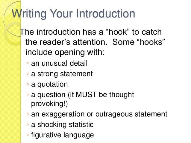 A good hook to start an essay
