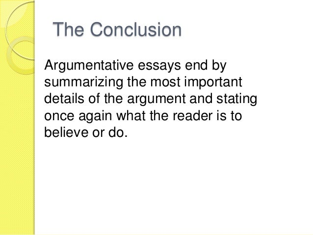 Conclusion for argumentative essay