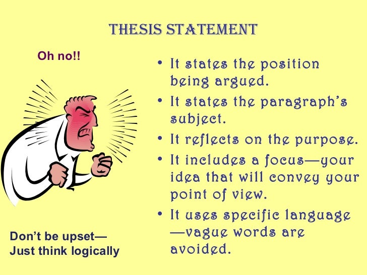 THESIS EXERCISES