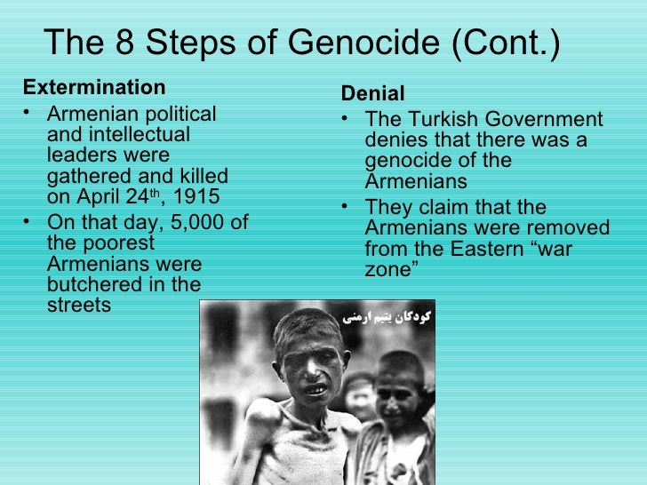 essay questions armenian genocide The armenian genocide, the first genocide of twentieth century april is the month of mourning for armenians around the world on april 24, every armenian remembers the loss of his/her family member in turkey some 15 million armenian systematical massacred during the years of 1915 to 1923 in .