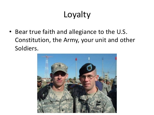 army values 13 These army values were spelled out in the (inevitable) acronym ldrshp: loyalty, duty, respect, selfless service, honor, integrity and personal courage finally, the corrosive effects of 13 years of combat operations have helped justify a culture of doing what's needed to take care of the troops, finish.