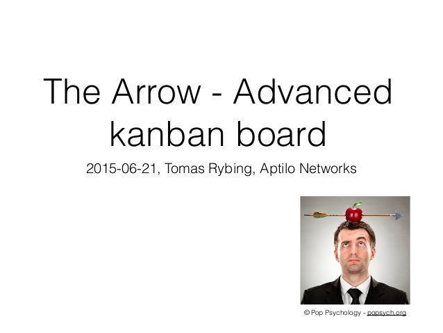 The Arrow - Advanced kanban board © Pop Psychology - popsych.org 2015-06-21, Tomas Rybing, Aptilo Networks