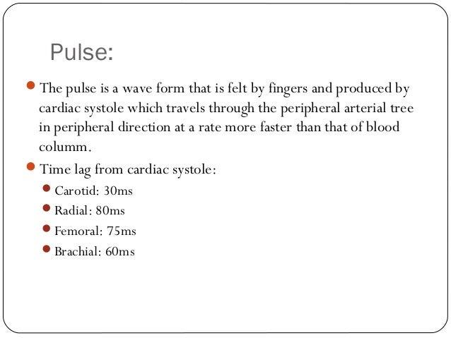 The arterial pulse