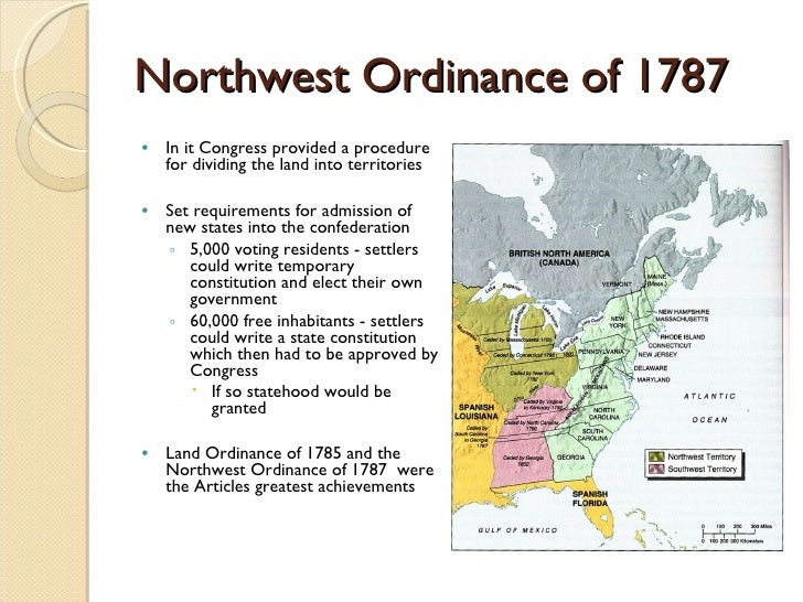 northwest ordinance articles or reviews about confederation