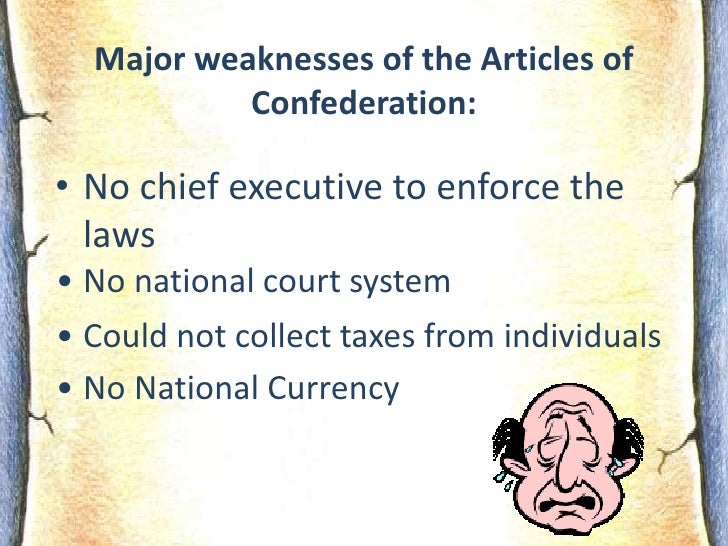 The contributions of the articles of confederation to the colonists of new america