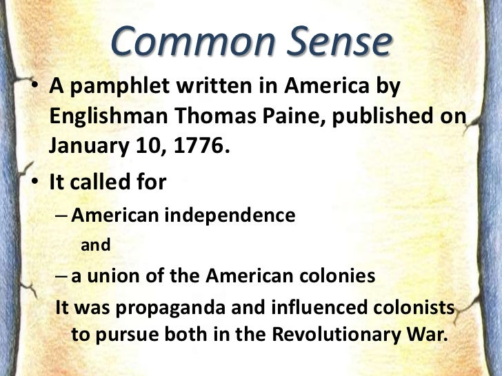 an analysis of the influences of american independence in common sense by thomas paine What are the main ideas of thomas paine's common sense and how did they influence the in thomas paine, common sense american independence.